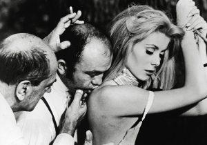 "Director Luis Bunuel and Catherine Deneuve, ""Belle De Jour""', 1967. *** Local Caption ***"